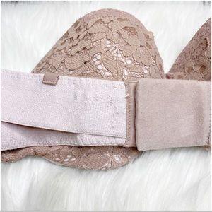 Victoria's Secret Intimates & Sleepwear - Victorias Secret Lined Strapless Lace Bra Pink 36C